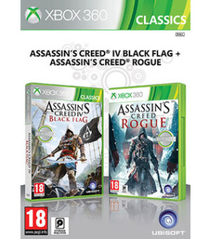 Xbox 360-Assassins Creed Double Pack Black Flag & Rogue
