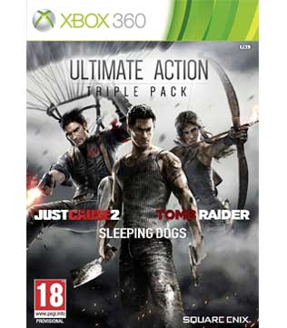 Xbox 360-Ultimate Action Triple Pack - Just Cause 2/Sleeping Dogs/Tomb Raider