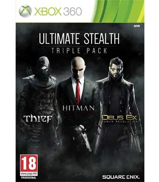 Xbox 360-Ultimate Stealth Triple Pack (Thief, Hitman Absolution & Deus Ex Human Revolution)