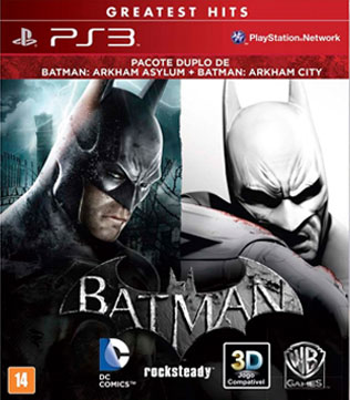 PS3-Batman: Arkham Asylum & Arkham City DUAL PACK
