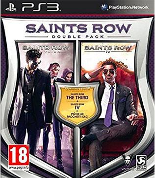 PS3-Saints Row 3 & 4 Double Pack
